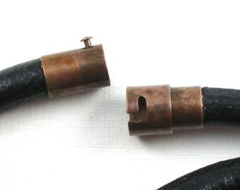 3 CLASP end bead cap for bracelets.  Magnet twist clasp in copper tone. 6mm inside diameter