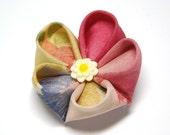 Multicolour Silk Kanzashi Hairclip