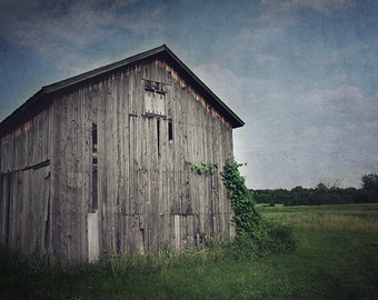 Barn Photograph, Farm Photography, Rural Decay, Dark Abandoned, Barn Picture, Rustic, Country Decor, Moody Landscape, Nature photography