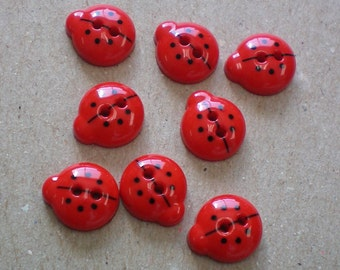 Lady Bug Buttons