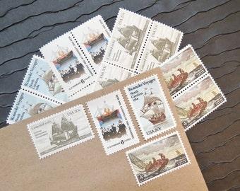 Nautical .. at Sea .. Vintage UNused Postage Stamps .. to post 5 letters