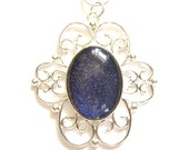 RELAUNCH CLEARANCE Altered State Color Shifting Oval Silver Filigree Necklace Nail Polish Jewelry - Limited Edition