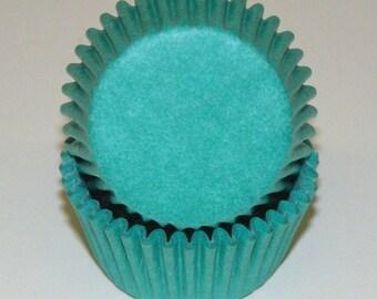 Mini Light Teal Cupcake Liners (50)