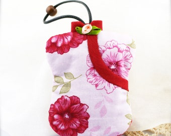 Chinese qipao hand stitched padded key cozy (KC)