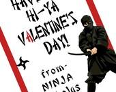 Ninja Printable Valentine Cards