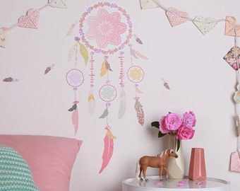 Fabric Wall Decal - Dream Catcher (reusable) NO PVC