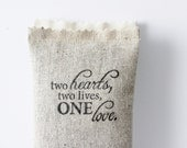 Engagement Party Favors, Two Hearts Two Lives One Love Lavender Sachet, Rustic Wedding