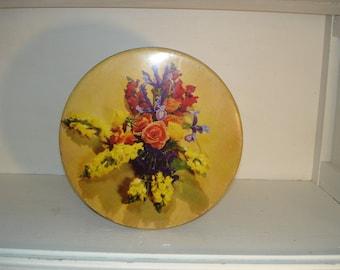 Antique/ Vintage Tin  Canco  1940s   Bunte Bros. Chicago  3 Lbs. Floral