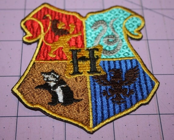 Hogwarts Machine Embroidered Iron On Patch
