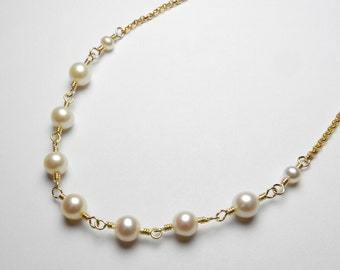 Made In Alaska Freshwater Pearl & 14K Gold Filled Necklace