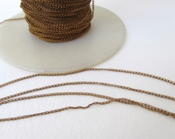 Vintage Chain Brass Delicate Links Beading chn0114 (3 feet)