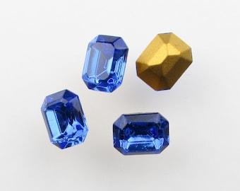Swarovski Crystal Vintage Rhinestone Sapphire Octagon Jewel 10x8mm swa0590 (4)
