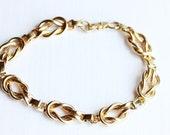 Vintage Gold Knot Bracelet