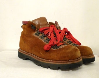 Vintage Mountaineer Hiking Boots Heavy Ankle Chukka Boots Mens 5 / Womens 6 on sale