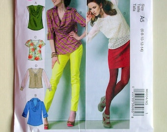 Ladies' Easy Blouses - McCalls 6604 - New Sewing Pattern, sizes 6, 8, 10, 12, and 14