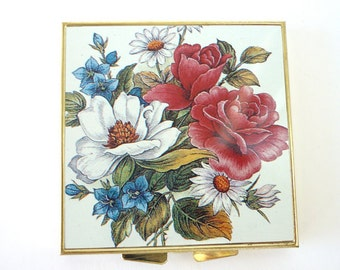Vintage Floral Pill Box never used