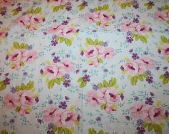 Spring Promise Ana Davis by Blend Pretty Florals Pink Country Garden Half Yard HTF