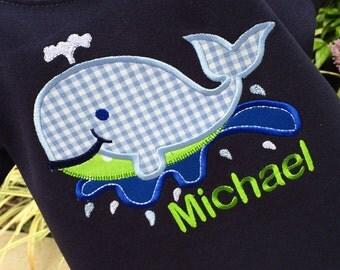 Boys Appliqued  Whale