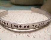 We Accept the Love We Think We Deserve Bracelet. Perks of Being A Wallflower.