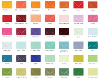 "A7 Envelopes  5 1/4"" x 7 1/4"" (133mm x 184mm)  25/Pk"