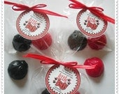 Ladybug Favors Handmade Soap (20 complete favors with tags-40 soaps)
