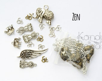 Bag 'O Charm, Bag full of Metal Charms, Spacers, Findings, Pendants, Choose Your Style