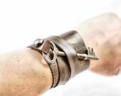 Antique Skeleton Key Wrap Around Leather Cuff
