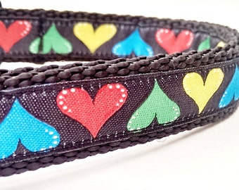 XOXO - Dog Collar / Handmade / Adjustable / Pet Accessories / Hearts / Valentine's Day / Gift Idea / Pet Lover