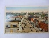 Antique Early 1900s Postcard, Akron, Ohio, East Market Street, Hotel Portage, Unused