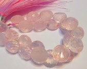 Rose quartz faceted candy kiss onion briolettes AAA Quality