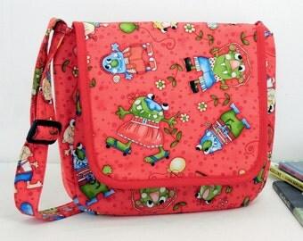 Dry Erase Art Activity Children's Messenger Bag Monster