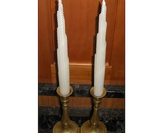 Pure Beeswax Tiered Taper Candles, Set of 2, Extra long