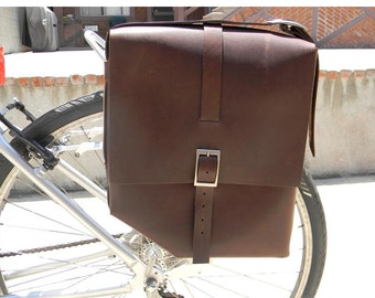 Handmade Leather Bicycle Panniers