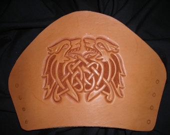 Dogs of War, Celtic leather Bracers, gauntlets, cuffs, armor