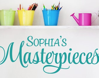 Personalized Masterpieces Wall Decal - Childrens Playroom Wall Decals -Childrens Art -Playroom Decor - Custom Wall Decals