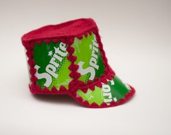 1960s Original Vintage SPRITE SODA CAN Crocheted Hat, Gift, Cap. Rare