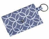 Mini Wallet with Wristlet or Lanyard Clutch Business Card Case Credit Card Holder Gift Card Minimalist Wallet Small Wallet Gray Circles