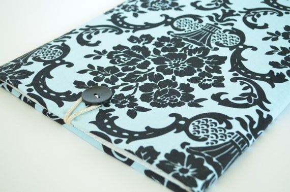 "Laptop Sleeve for 11.6"" chromebooks and laptop computers Padded Case - Fleur Damask"