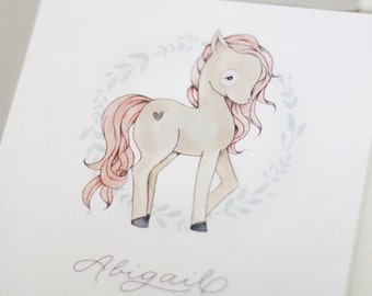 Pony Birthday Party  Invitation