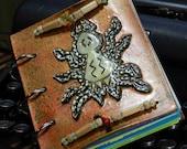 Green Spider Journal - blank book - 4x5