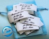 1 x 2 Inch Iron ON Custom Clothing Labels 30 Count
