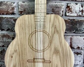 Guitar Cutting Board Wood Handmade
