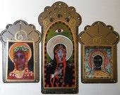 3 Black Madonnas, 20% off for all 3, Free Shipping, Spiritual Art, Catholic Art, Prints from my Original Icons, Christina Miller Artist