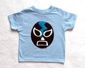 Kids T-shirt - Luchador Negro - Black Mexican Wrestler Toddler Shirt - Lucha Libre