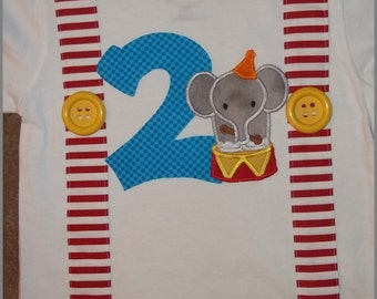 Circus Elephant with Suspenders Shirt