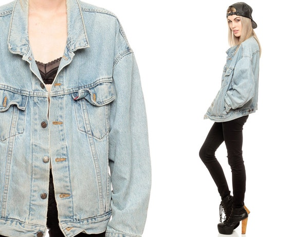 LEVIS Jean Jacket 80s Faded Denim Jacket Levi Coat Light Wash