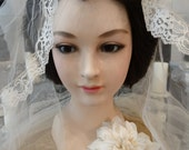 RESERVED for TRISH Lifesize Extremely RARE Vintage Japanese Iki Ningyo Woman Mannequin Head Beautiful