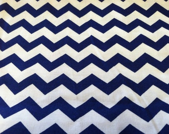 Chevron print royal blue