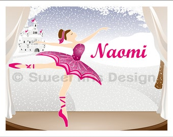 Ballerina on Winter Stage  -  Wall Print  (or)  Greeting Cards