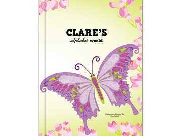 My Alphabet World  - Butterflies, Fairies & Cupcakes - Personalized  (Hardcover)